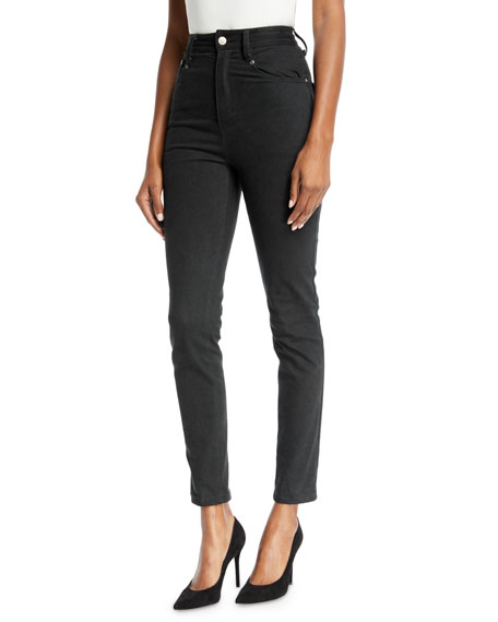 Brandon Maxwell High-Waist Skinny Jeans