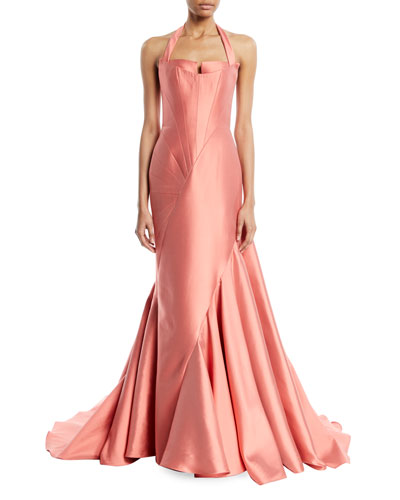Seamed Silk Gown Neiman Marcus