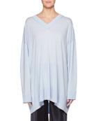 Sabrinah V-Neck Long-Sleeve Wool Tunic Top