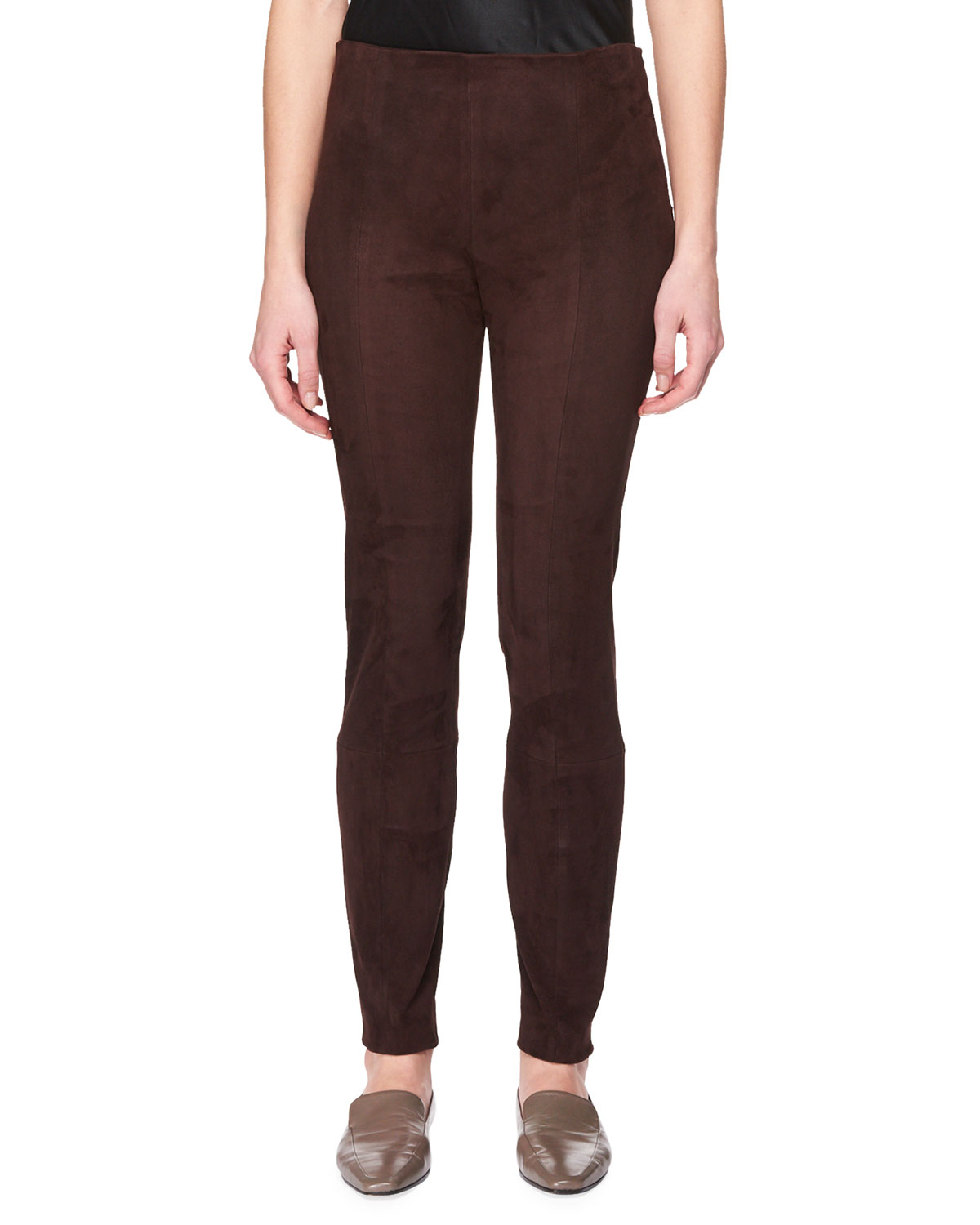 Cosso Skinny-Leg Suede Pants