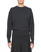 Rudi Crewneck Long-Sleeve Pullover Knit Sweatshirt