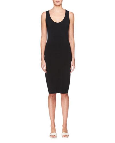 Borelle Scoop-Neck Sleeveless Fitted Dress