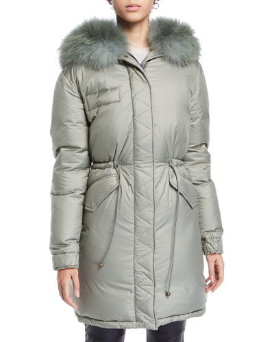 c44cb02b610b6 Zip Puffer Coat   Neiman Marcus