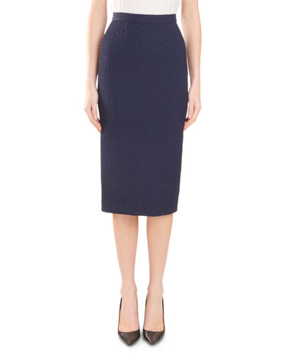 0557e2513 Quick Look. Roland Mouret · Arreton Puckered-Stretch Pencil Skirt ...