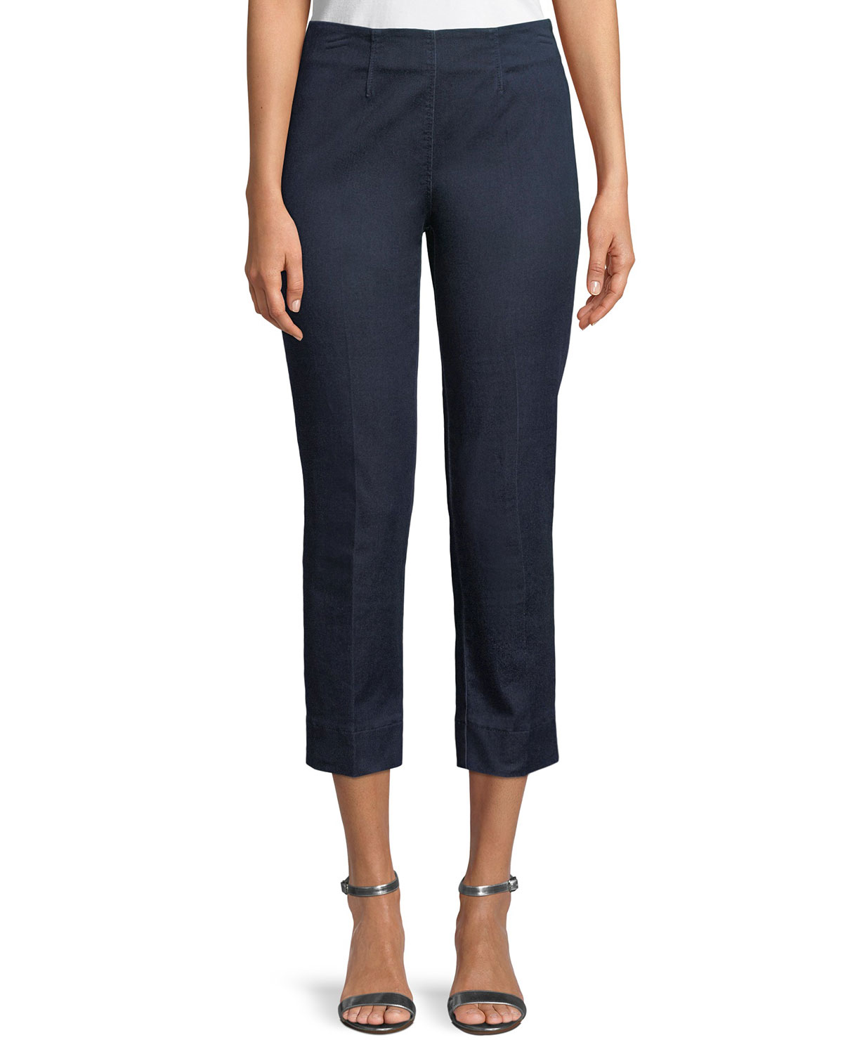 Audrey Slim Straight-Leg Denim Capri Pants