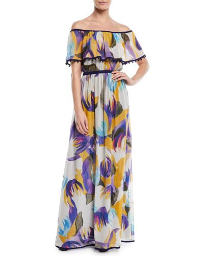 23557adc982 Long Sleeve Silk Maxi Dress
