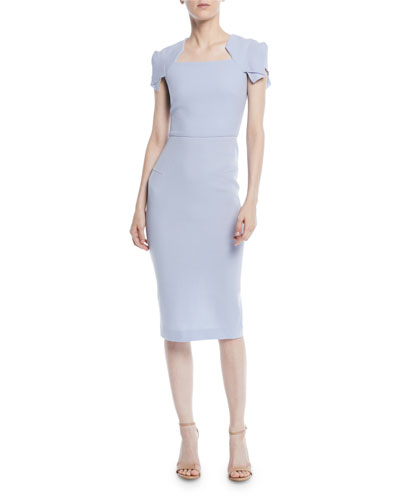 a9526794b08 Quick Look. Roland Mouret · Square-Neck Cap-Sleeve Sheath Dress