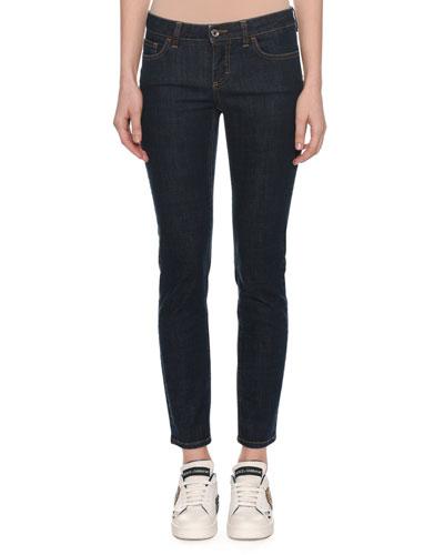 Pretty Fit Five-Pocket Skinny Jeans w/ Queen Back Pocket