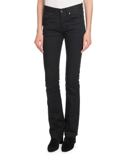 Straight-Leg Boot-Cut Jeans