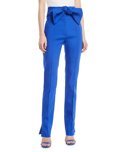 Valentino stripe detail straight trousers - Blue Clearance Buy Cheap Shop Offer 7EALhVa
