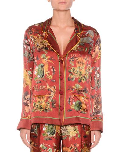 7205424ccff8b Fitted Silk Shirt
