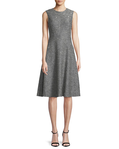 Sequin Sleeveless Fitted Dress Neiman Marcus