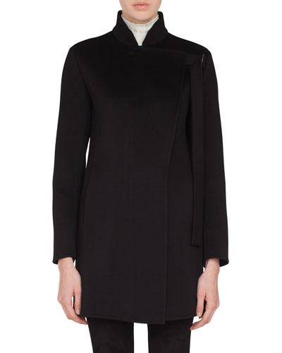 Terra Cashmere Asymmetric Lapel Jacket