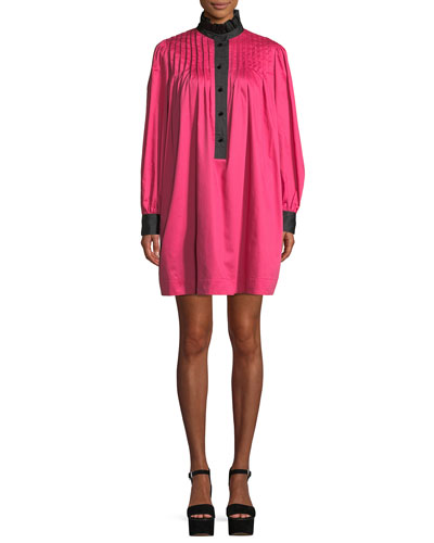 dba0f5da824b Cotton Long Sleeve Shift Dress | Neiman Marcus