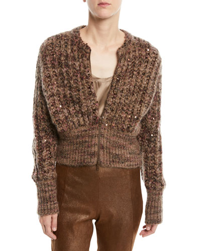 Quick Look. Brunello Cucinelli · Zip-Front Mohair-Blend Cardigan ea98889da