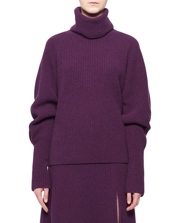 Turtleneck Long-Sleeve Cashmere Sweater