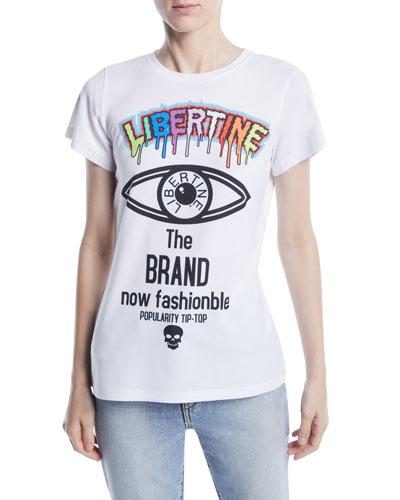 Brand Now Fashionable Photo Graphic-Print Crewneck Tee