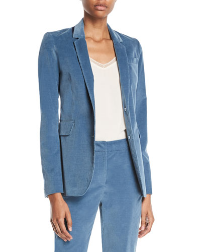 Sophie Single-Breasted Stretch-Corduroy Blazer Jacket