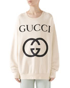 Gucci Heavy Felted Cotton Jersey Oversized Sweatshirt w/