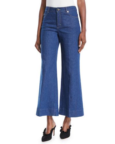 bc57bf3e8758 Quick Look. Escada · Wide-Leg Cropped Jeans