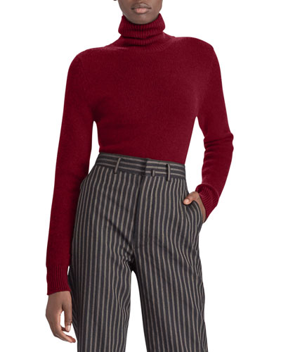50th Anniversary Turtleneck Long-Sleeve Cashmere Pullover Sweater