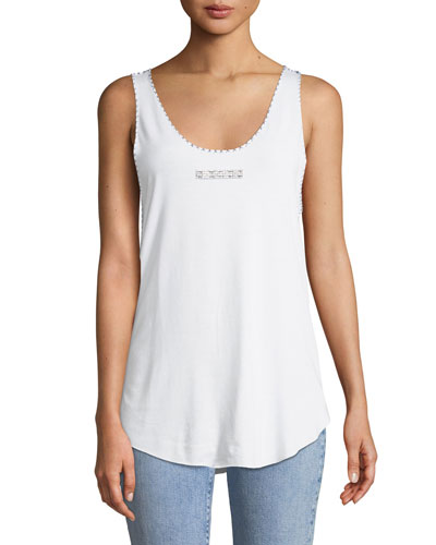 Scoop-Neck Crystal-Bar T-Shirt