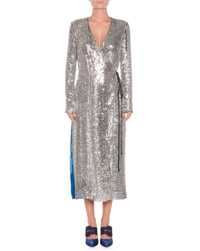 Silver Metallic Dress Neiman Marcus