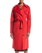 Michael Kors Collection Double-Face Cashmere Melton Trench Robe