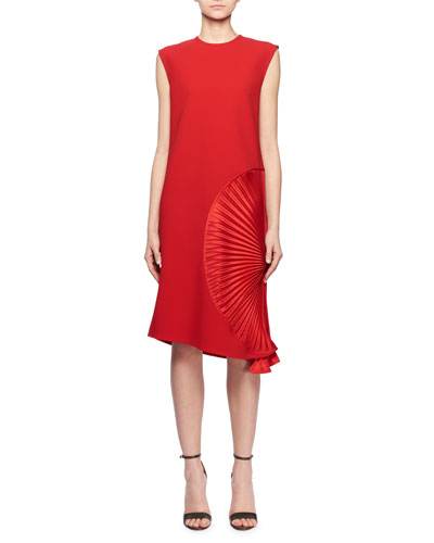 33eaa1b5a23aa Quick Look. Victoria Beckham · Sleeveless Pleated Side A-Line Crepe  Cocktail Dress