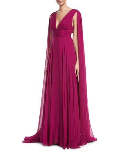 Chiffon Evening Gown | Neiman Marcus