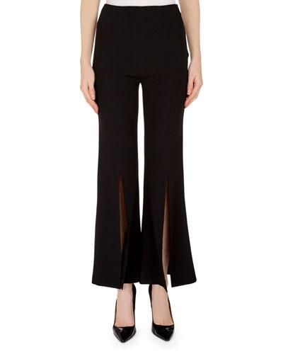 Parkgate Front-Slit Cropped Pants