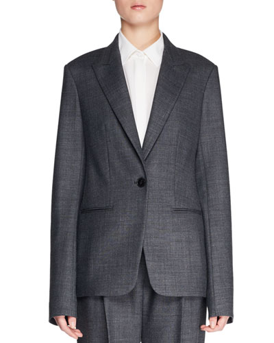 Naycene One-Button Wool-Blend Jacket