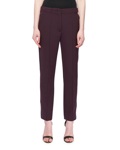 Cropped Slim Straight-Leg Pants