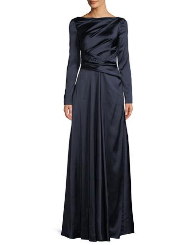 9f05b99fb A Line Evening Gown