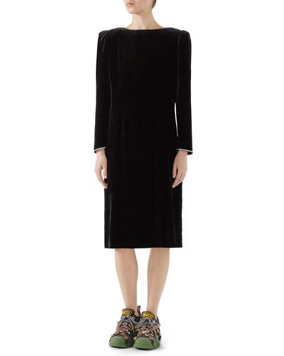fe33654d64 V Neckline Velvet Dress