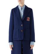 Gucci NY Yankees MLB Cady Crepe Wool Jacket