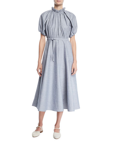 b623788458 Linen Midi Dress