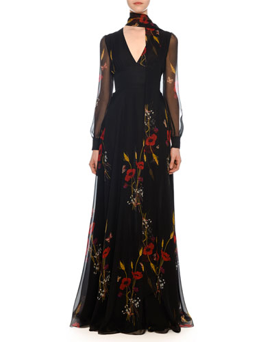 1533f49e5 A Line Evening Gown | Neiman Marcus