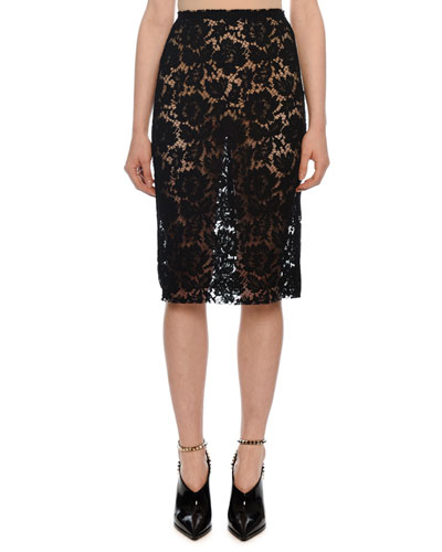 Heavy Lace Pencil Skirt
