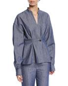 Derek Lam Long-Sleeve Denim Shirt