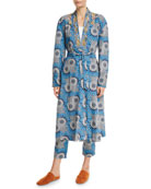 Figue Elizabetta African Moon Floral Kimono Jacket