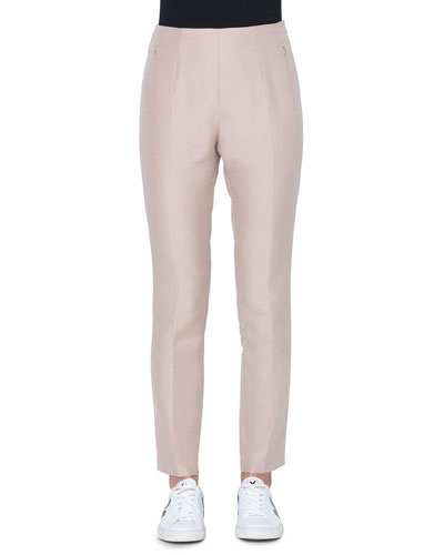 Conny Slim Cotton/Silk Ankle Pants