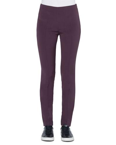 Melissa Slim Stretch Silk Crepe Pants