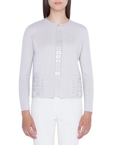 b1890af837edb4 Quick Look. Akris · Sequin-Pocket Cashmere Sweater