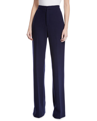 Maggie High-Rise Wool Pants