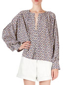 Isabel Marant Amba Abstract-Floral A-Line Tunic and Matching