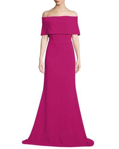 0d774246d1c96 A Line Evening Gown