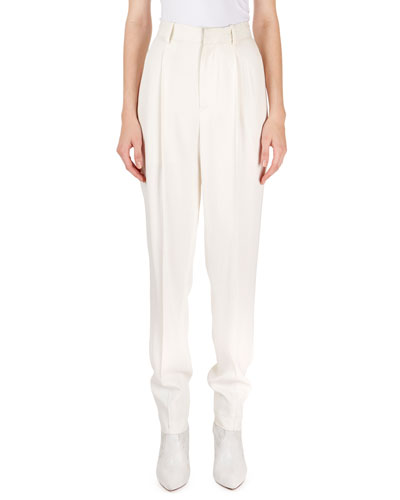 Poyd High-Waist Stovepipe Trousers