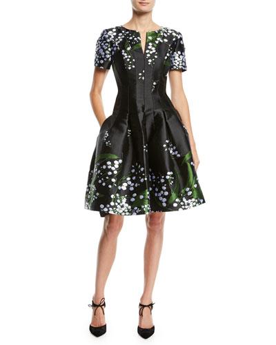 f0c5506c274 Short Sleeve Split Neckline Dress