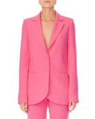 Carolina Herrera Notched-Lapels Two-Button Stretch-Wool Jacket